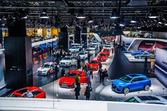MOSCOW, RUSSIA - AUG 2012: AUDI presented as world premiere at t Royalty Free Stock Photo