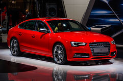 MOSCOW, RUSSIA - AUG 2012: AUDI S5 SPORTBACK presented as world Stock Photos