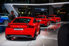 MOSCOW, RUSSIA - AUG 2012: AUDI TT RS PLUS presented as world pr Royalty Free Stock Image
