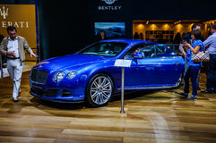 MOSCOW, RUSSIA - AUG 2012: BENTLEY CONTINENTAL GT SPEED 2ND GENE. RATION presented as world premiere at the 16th MIAS (Moscow International Automobile Salon) on Stock Photography