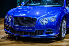 MOSCOW, RUSSIA - AUG 2012: BENTLEY CONTINENTAL GT SPEED 2ND GENE. RATION presented as world premiere at the 16th MIAS (Moscow International Automobile Salon) on Stock Images