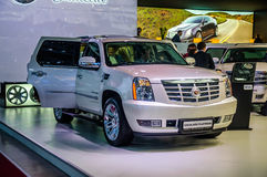 MOSCOW, RUSSIA - AUG 2012: CADILLAC ESCALADE PLATINUM presented Stock Images