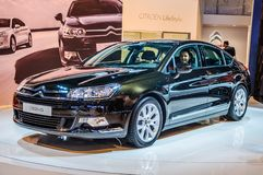 MOSCOW, RUSSIA - AUG 2012: CITROEN C5 2ND GENERATION presented as world premiere at the 16th MIAS Moscow International Automobile Royalty Free Stock Image