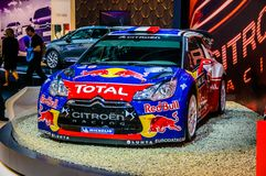 MOSCOW, RUSSIA - AUG 2012: CITROEN DS3 WRC presented as world premiere at the 16th MIAS Moscow International Automobile Salon on A Stock Images