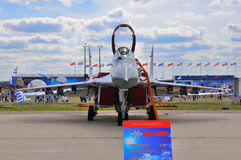 MOSCOW, RUSSIA - AUG 2015: fighter aircraft MiG-29 Fulcrum prese Stock Image