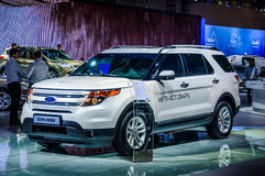 MOSCOW, RUSSIA - AUG 2012: FORD EXPLORER 5TH GENERATION presente. D as world premiere at the 16th MIAS (Moscow International Automobile Salon) on August 30, 2012 stock images
