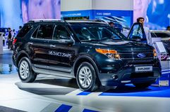 MOSCOW, RUSSIA - AUG 2012: FORD EXPLORER 5TH GENERATION presente. D as world premiere at the 16th MIAS (Moscow International Automobile Salon) on August 30, 2012 royalty free stock images