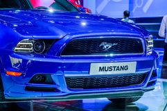 MOSCOW, RUSSIA - AUG 2012: FORD MUSTANG 5TH GENERATION presented Royalty Free Stock Photos
