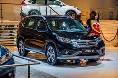 MOSCOW, RUSSIA - AUG 2012: HONDA CR-V 4TH GENERATION presented a Stock Images