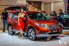 MOSCOW, RUSSIA - AUG 2012: HONDA CR-V 4TH GENERATION presented a Royalty Free Stock Image