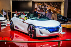 MOSCOW, RUSSIA - AUG 2012: HONDA EV-STER CONCEPT presented as wo Stock Photography