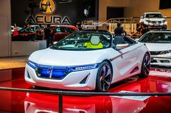 MOSCOW, RUSSIA - AUG 2012: HONDA EV-STER CONCEPT presented as wo Royalty Free Stock Image