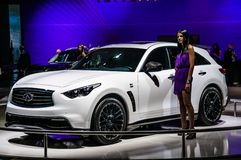 MOSCOW, RUSSIA - AUG 2012: INFINITI QX70 presented as world prem Stock Image