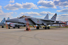 MOSCOW, RUSSIA - AUG 2015: interceptor aircraft MiG-31 Foxhound Stock Photo