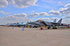MOSCOW, RUSSIA - AUG 2015: interceptor aircraft MiG-31 Foxhound Royalty Free Stock Photography