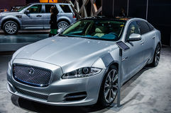 MOSCOW, RUSSIA - AUG 2012: JAGUAR XJ presented as world premiere Royalty Free Stock Photography
