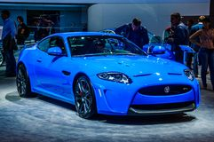 MOSCOW, RUSSIA - AUG 2012: JAGUAR XKR-S 3RD GENERATION presented Stock Photography