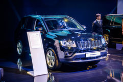 MOSCOW, RUSSIA - AUG 2012: JEEP COMPASS presented as world premi Stock Photos