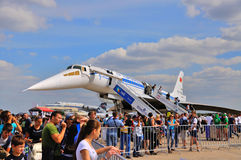 MOSCOW, RUSSIA - AUG 2015:  jet airliner Tu-144 Charger presente Stock Photo