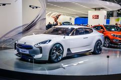 MOSCOW, RUSSIA - AUG 2012: KIA GT CONCEPT presented as world pre Stock Image