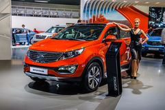 MOSCOW, RUSSIA - AUG 2012: KIA SPORTAGE 3RD GENERATION presented Stock Photo
