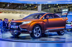 MOSCOW, RUSSIA - AUG 2012: LADA XRAY CONCEPT presented as world Stock Photography