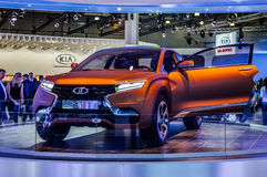 MOSCOW, RUSSIA - AUG 2012: LADA XRAY CONCEPT presented as world Stock Photo