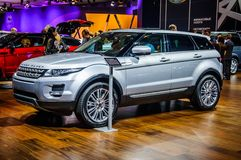 MOSCOW, RUSSIA - AUG 2012: LAND ROVER RANGE ROVER EVOQUE present Royalty Free Stock Photo