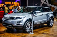 MOSCOW, RUSSIA - AUG 2012: LAND ROVER RANGE ROVER EVOQUE present Stock Photos