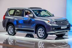 MOSCOW, RUSSIA - AUG 2012: LEXUS GX460 presented as world premie Stock Photos