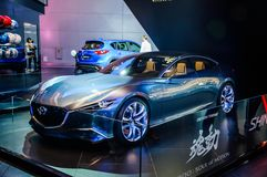 MOSCOW, RUSSIA - AUG 2012: MAZDA SHINARI CONCEPT presented as wo Royalty Free Stock Photos