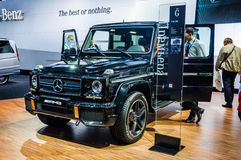 MOSCOW, RUSSIA - AUG 2012: MERCEDES-BENZ G-CLASS AMG W463 presented as world premiere at the 16th MIAS Moscow International Automo Royalty Free Stock Images