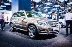 MOSCOW, RUSSIA - AUG 2012: MERCEDES-BENZ GLK-CLASS X204 presented as world premiere at the 16th MIAS Moscow International Automobi Stock Photo