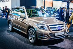 MOSCOW, RUSSIA - AUG 2012: MERCEDES-BENZ GLK-CLASS X204 presented as world premiere at the 16th MIAS Moscow International Automobi Royalty Free Stock Photo