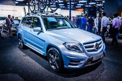 MOSCOW, RUSSIA - AUG 2012: MERCEDES-BENZ GLK-CLASS X204 presented as world premiere at the 16th MIAS Moscow International Automobi Royalty Free Stock Photos