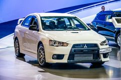 MOSCOW, RUSSIA - AUG 2012: MITSUBISHI LANCER EVOLUTION X present Royalty Free Stock Photos