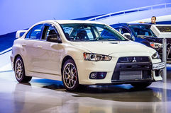 MOSCOW, RUSSIA - AUG 2012: MITSUBISHI LANCER EVOLUTION X present Stock Images