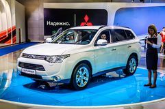 MOSCOW, RUSSIA - AUG 2012: MITSUBISHI OUTLANDER 3RD GENERATION p Royalty Free Stock Photos