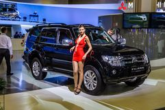 MOSCOW, RUSSIA - AUG 2012: MITSUBISHI PAJERO 4TH GENERATION pres Royalty Free Stock Image