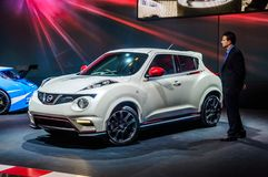 MOSCOW, RUSSIA - AUG 2012: NISSAN JUKE YF15 presented as world p Royalty Free Stock Photography