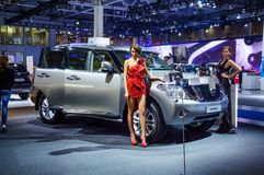 MOSCOW, RUSSIA - AUG 2012: NISSAN PATROL Y62 presented as world Stock Photo