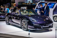 MOSCOW, RUSSIA - AUG 2012: PORSCHE BOXSTER S 981 presented as wo Stock Photos