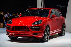 MOSCOW, RUSSIA - AUG 2012: PORSCHE CAYENNE GTS 2 GENERATION pres Royalty Free Stock Images