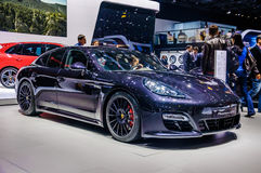 MOSCOW, RUSSIA - AUG 2012: PORSCHE PANAMERA GTS E2B presented as Royalty Free Stock Photography
