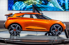 MOSCOW, RUSSIA - AUG 2012: RENAULT CAPTUR CONCEPT presented as w Royalty Free Stock Photography