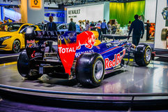MOSCOW, RUSSIA - AUG 2012: RENAULT F1 (FORMULA ONE) RED BULL pre Royalty Free Stock Photos