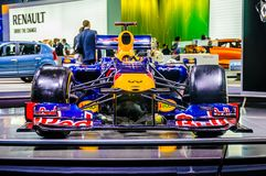 MOSCOW, RUSSIA - AUG 2012: RENAULT F1 (FORMULA ONE) RED BULL pre Royalty Free Stock Photo