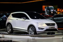 MOSCOW, RUSSIA - AUG 2012: SEAT IBX CONCEPT presented as world premiere at the 16th MIAS Moscow International Automobile Salon on Stock Images