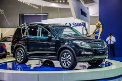 MOSCOW, RUSSIA - AUG 2012: SSANGYONG REXTON 3RD GENERATION prese Royalty Free Stock Photo