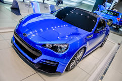 MOSCOW, RUSSIA - AUG 2012: SUBARU BRZ presented as world premier Royalty Free Stock Image